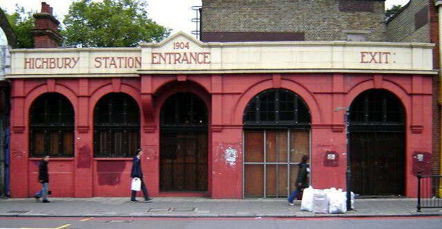 Old Highbury station entrance