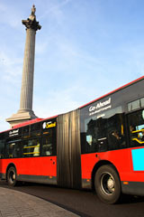 Bus passing Nelson's Column