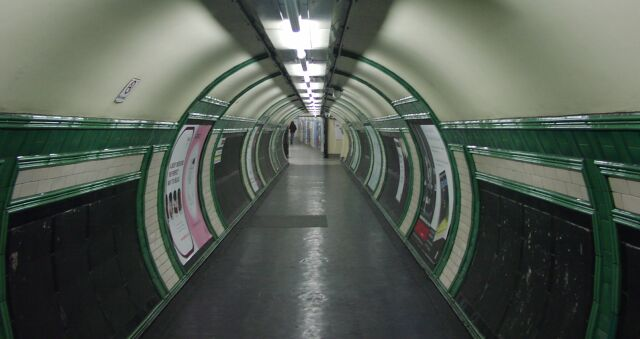Bakerloo Line passageway at Embankment station