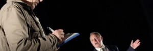 Anthony Calf as The Author and Jonathan Coy as Howard Davies / image copyright Catherine Ashmore