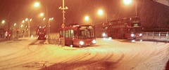 Crystal Palace bus station in the snow, last night, by Jan Bode in the Londonist Flickr pool.