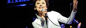 Tracie Bennett (Judy Garland) in End Of The Rainbow. Photo by Robert Day