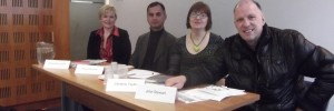 Left to right: Anne-Marie Griffin, Murad Qureshi AM, Christine Taylor, John Stewart.