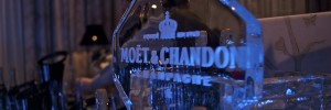 A cold Champagne reception from the ice bar at last night's launch of the new Arch Bar at the InterContinental
