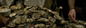 Mounds upon mounds of oysters at last night's launch of Bistro du Vin in Soho
