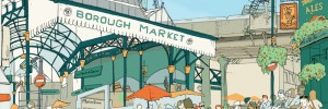 Borough Market in the Borough of Southwark.