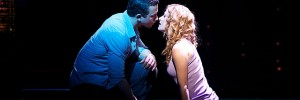 Sam Wheat (Richard Fleeshman) and Molly Jensen (Caissie Levy) in Ghost The Musical. Photo by Sean Ebsworth Barnes
