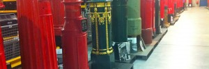A parade of post boxes, stand to attention like mismatched soldiers.