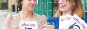 Camden Fringe organisers Zena & Michelle in the Camden New Journal