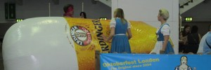 Two ladies struggle to cope with another beer-related deflation at the GBBF.
