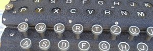 An Enigma machine. See Thursday for a cracking codebreaking event.