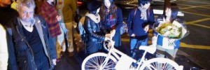 The Ghost Bike for Deep Lee, where tonights protest takes place.