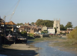 Thames at Isleworth, low tide