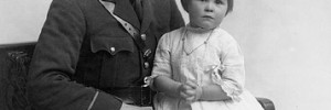 Lieutenant A Dodgson photographed with his daughter