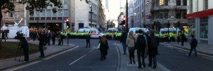 The scene in Finsbury Square, around 3.30pm.