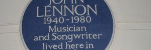 John Lennon's blue plaque at Montague Square