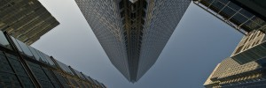 A dizzying shot in Canary Wharf, by tripowski