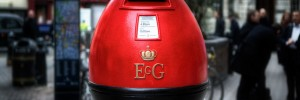 The post box egg was stolen in the first few days, but has since been retrieved.