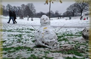 Kensington Gardens snowman by Roll the Dice