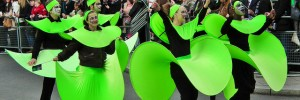 Parade time: green people on St Patrick's Day 2012, by kenjonbro