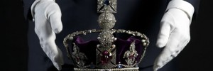 The Imperial State Crown: 2868 diamonds, 17 sapphires, 11 emeralds, five rubies and 273 pearls. It weighs 0.91kg and is 31.5cm tall. This is what the Queen wears at the State Opening of Parliament.