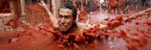 La Tomatina, a festival held in the Valencian town of Buñol