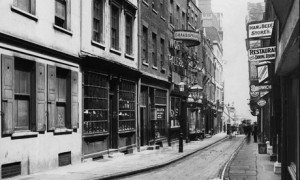 From Panoramas of Lost London / North side of Wych Street looking east, 11 June 1906 / English Heritage