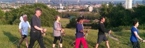 Nordic walking on Hampstead Heath photo by exerciselondon.co.uk