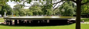 The 2012 Serpentine Gallery by Herzog &amp; de Meuron and Ai Weiwei, the final stop on the Music Walk map. Image by ericsnaps