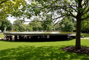 The 2012 Serpentine Gallery by Herzog & de Meuron and Ai Weiwei, the final stop on the Music Walk map. Image by ericsnaps