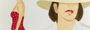 Alex Katz Vivien.  Alex Katz/Licensed by VAGA, New York, NY. Courtesy, Timothy Taylor Gallery, London