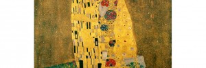 A typical Klimt piece, resplendent in gold.