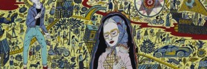 Part of the Walthamstow Tapestry by Grayson Perry.