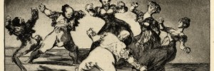 Figures Dancing in a circle from Los Disparates, 1816-23, Francisco Goya. Copyright of the Trustees of the British Museum