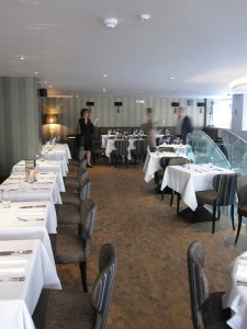 The first-floor restaurant at the St James Theatre