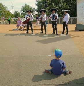 Find the Mariachi band on the Olympic Park