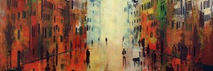 Phil Davis, Last of the Sun. (A Town Full of People on a Sunny Afternoon). Courtesy DegreeArt