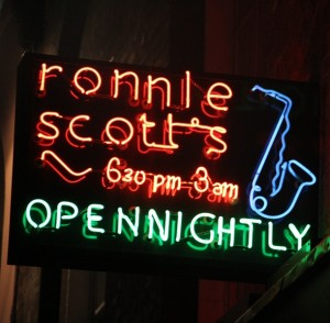 Ronnie Scott's sign