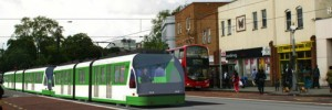 Image of the tram in Camberwell
