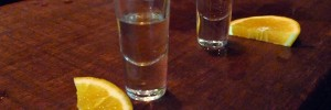 Two shots of La Penca at Mezcal Cantina