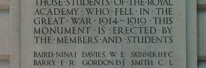 A war memorial at the Royal Academy.