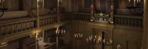 Interior of The Sam Wanamaker Theatre / CGI by Allies & Morrison