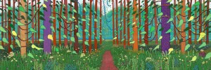 David Hockney, The Arrival of Spring in Woldgate, East Yorkshire in 2011 (Photo Jonathan Wilkinson)