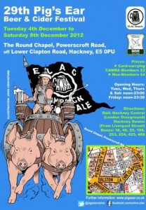 Flyer for the Pig's Ear festival