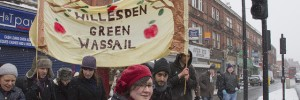The Willesden Green Wassail, yesterday. Photo by SabineThoele via the Londonist Flickrpool.