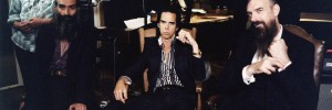 Nick Cave and the Bad seeds looking pretty relaxed in the studio