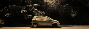 The car in the snow, Brockley by Andy Worthington
