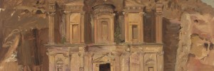 Ed Deir, Petra, Jordan Frederic Edwin Church 1868. © Cooper-Hewitt, National Design Museum, Smithsonian Institution/Art Resource, NY/Scala, Florence. Photo: Matt Flynn