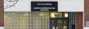 The London Metropolitan Archives looking aptly frozen. Go and see their free Frozen London exhibition.