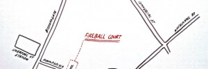 Fireball Court former location